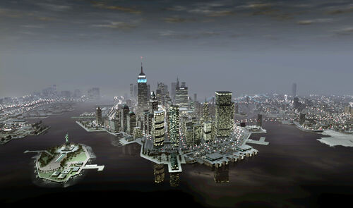 Liberty city (GTA IV) - carte 3d