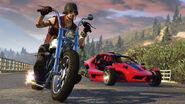 GTAO motos boulots bobos daemon custom et raptor