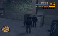 GTA III Claude with Toni's man.