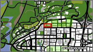 Cimetière de Vinewood (carte) GTA San Andreas
