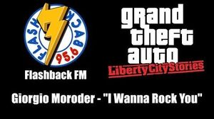 "GTA Liberty City Stories - Flashback FM Giorgio Moroder - ""I Wanna Rock You"""