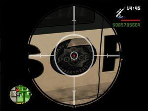 Значок на полицейской машине в GTA San Andreas