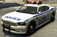 Police Cruiser (Buffalo) GTA The Ballad of Gay Tony (vue avant)