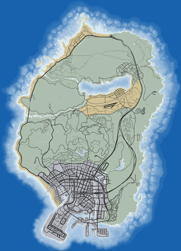 San Andreas (V - 2 - mapa)