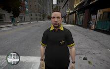 GTA IV Employé de Rockstar Café