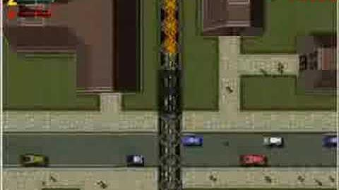 Industrial sector trains on Grand Theft Auto 2 (GTA2)