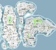Carte routière de Liberty City