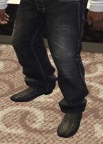 Ponsonbys (V - Czarne buty wsuwane)