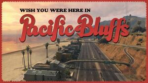 Pacific Bluffs GTA V (carte postale)