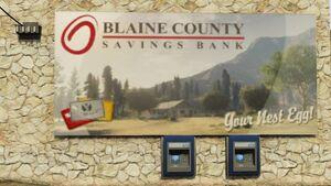 BLAINE-COUNTY SAVINGS-BANK POSTER-ATM-GTAV