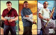 Artwork-Franklin, Michael et Trevor GTA V