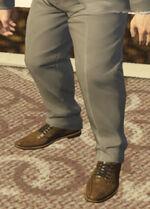 Ponsonbys (V - Brązowe buty skórzane)