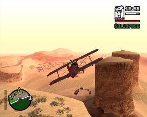 GTA- SA Скриншот Аэроплан