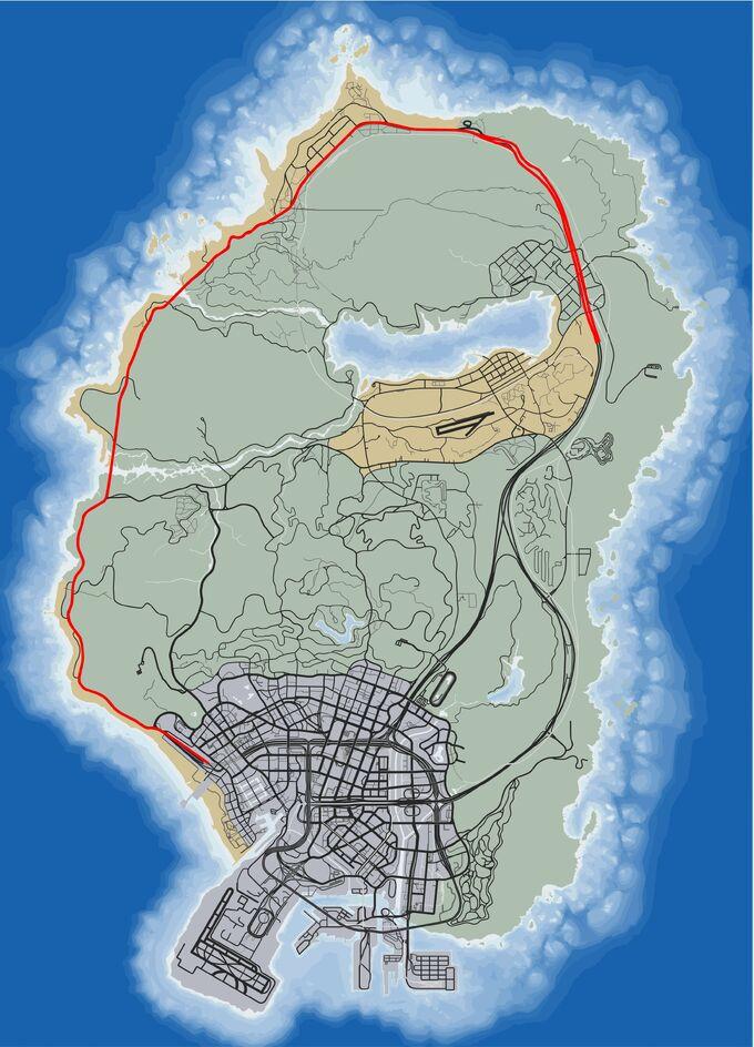 Карта Шоссе 1