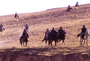 US Special Forces on horseback, Afghanistan, 2001
