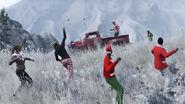 Surprise festive bataille neige GTAV