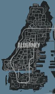 Alderney (IV - mapa)