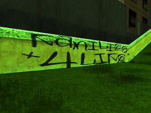 Cimetière de Vinewood GTA San Andreas (graffiti)