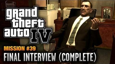 GTA 4 - Mission -39 - Final Interview -Complete Mission- (1080p)