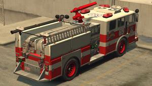 Camion de pompiers GTA IV (vue arrière)