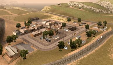 El Quebrados GTA San Andreas (vue aérienne 1)