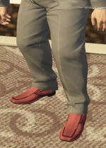 Ponsonbys (V - Czerwone buty wsuwane)