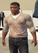 Ponsonbys (V - Piaskowy sweter w romby)