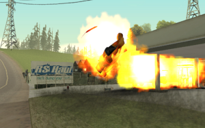 Tanker Commander GTA San Andreas (explosion)