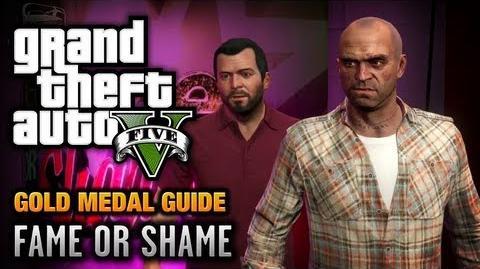 GTA 5 - Mission 22 - Fame or Shame 100% Gold Medal Walkthrough