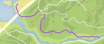 Cassidy Creek Trek (V - mapa)