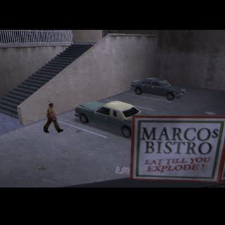 مايك يذهب لسيارته قبل مقتله بفترة قصيرة (لاحظ اللافتة)