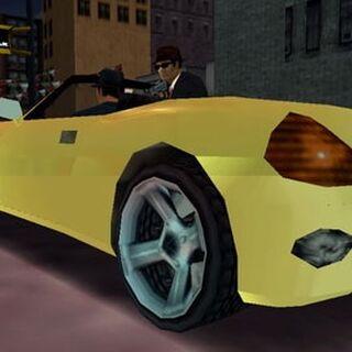 النسخة التجريبية من سيارة ستينجر في النسخة التجريبية من جي تي أي: ليبرتي سيتي ستوريز.