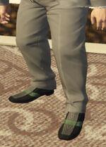 Ponsonbys (V - Zielone buty wsuwane w paski)