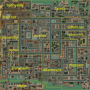 Downtown (Anywhere City - mapa)