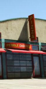 Pebble dash pizza