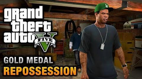 GTA 5 - Mission -2 - Repossession -100% Gold Medal Walkthrough-