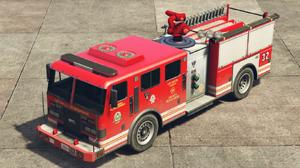 Camion de pompiers GTA V (vue avant)