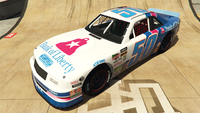 HotringSabre-GTAO-Liveries-50-BankofLiberty-White-FrontQuarter