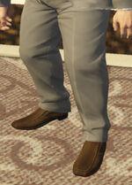 Ponsonbys (V - Brązowe buty wsuwane)