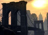 Broker Bridge (coucher de soleil) GTA IV