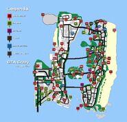 Mapa Pacotes Secretos GTA Vice City