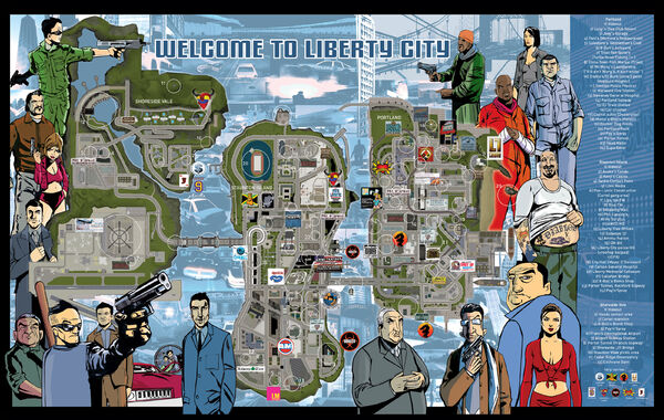 GTA III - Mapa