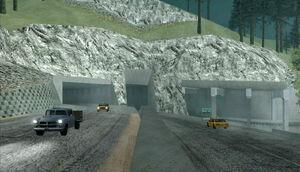 Bayside Tunnel GTA San Andreas (entrée est)