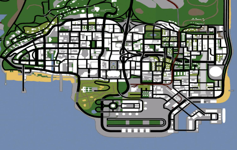 Los Santos карта