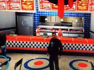 Niko egy South Bohani Burger Shot étteremben