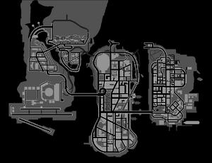 GTA LCS Liberty City Map