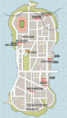 Карта допмиссий на острове Staunton Island