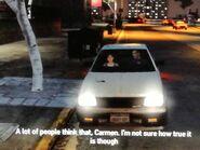 Niko és Carmen autókáznak