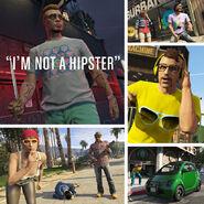 Armes, t-shirt et voiture Panto Hipster toi-même GTA V