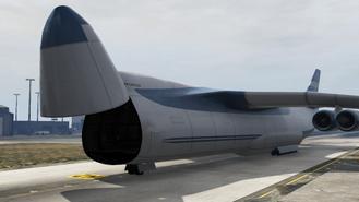 Cargo Plane Com A Porta Aberta